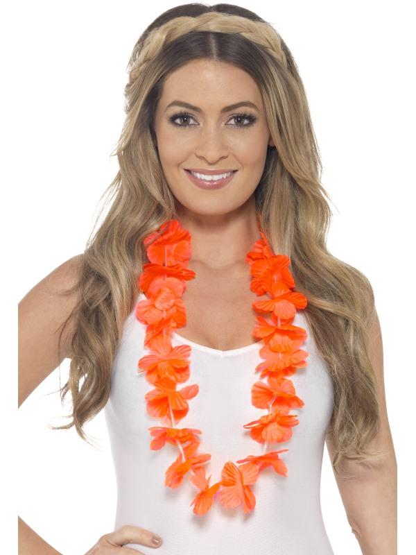Hawaiian Lei Bloemenkrans Oranje