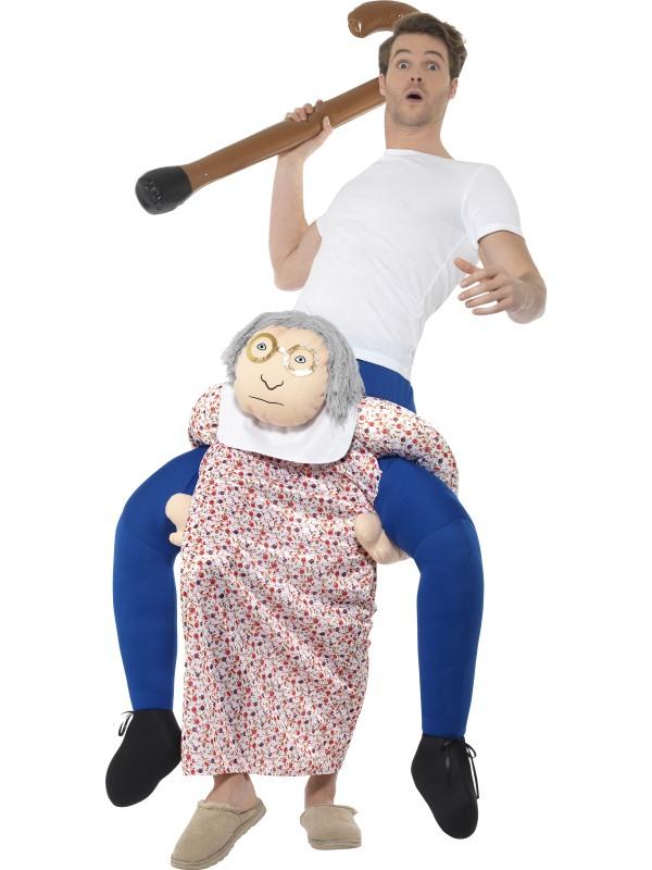 Piggyback Grandma Kostuum