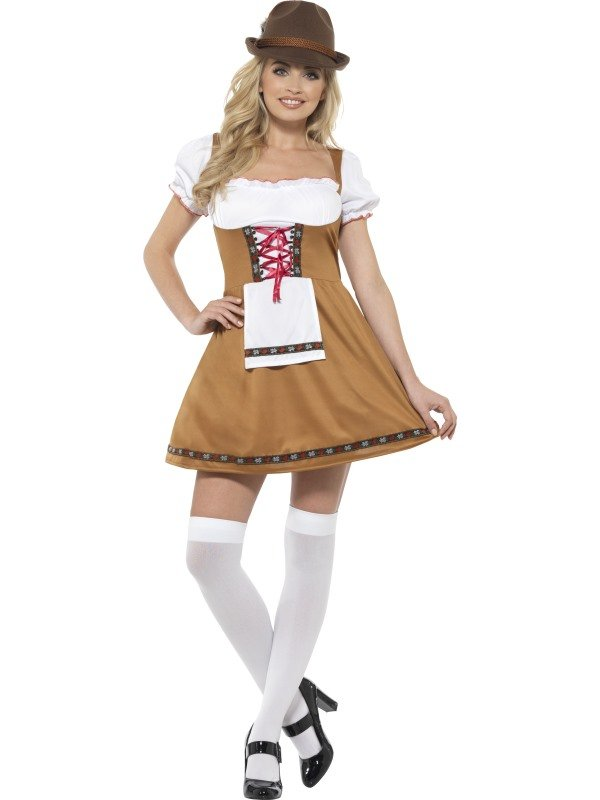 Bavarian Beer Maid Kostuum