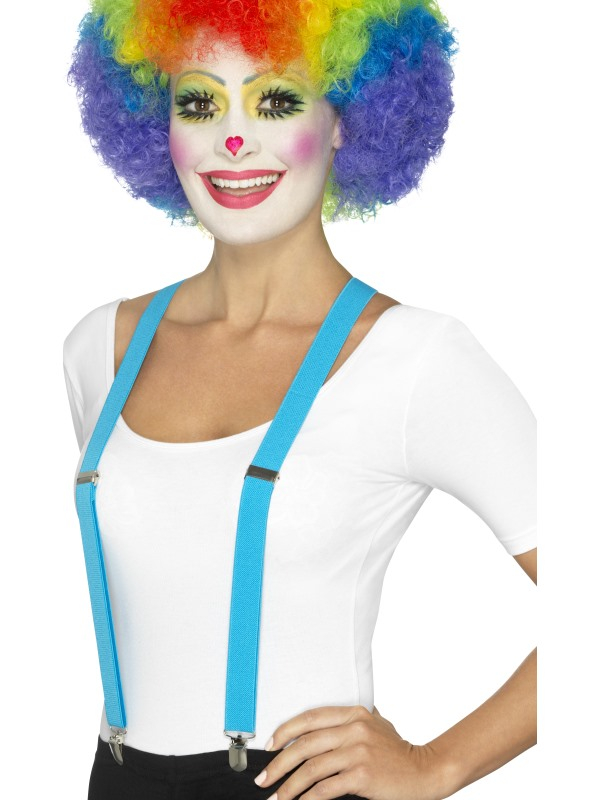 Clown Bretels Blauw