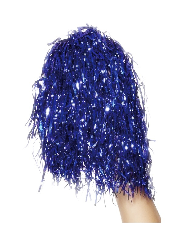 Pom Poms Metallic Blue