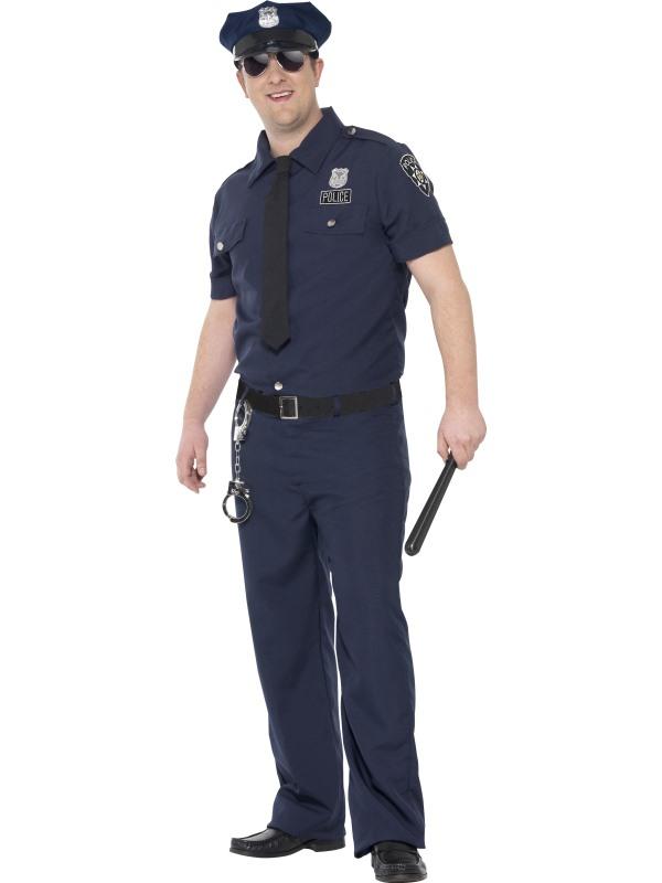 Curves NYC Cop Kostuum Heren