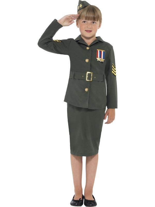 WW2 Army Girl Kostuum Kids