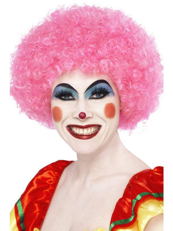 Crazy Clown Pruik Roze