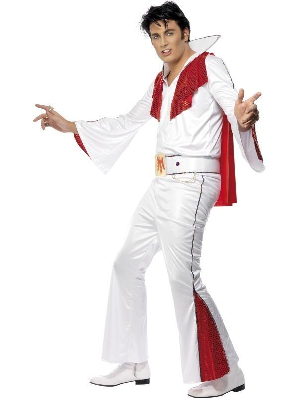 Wit met Rood Elvis Heren Kostuum