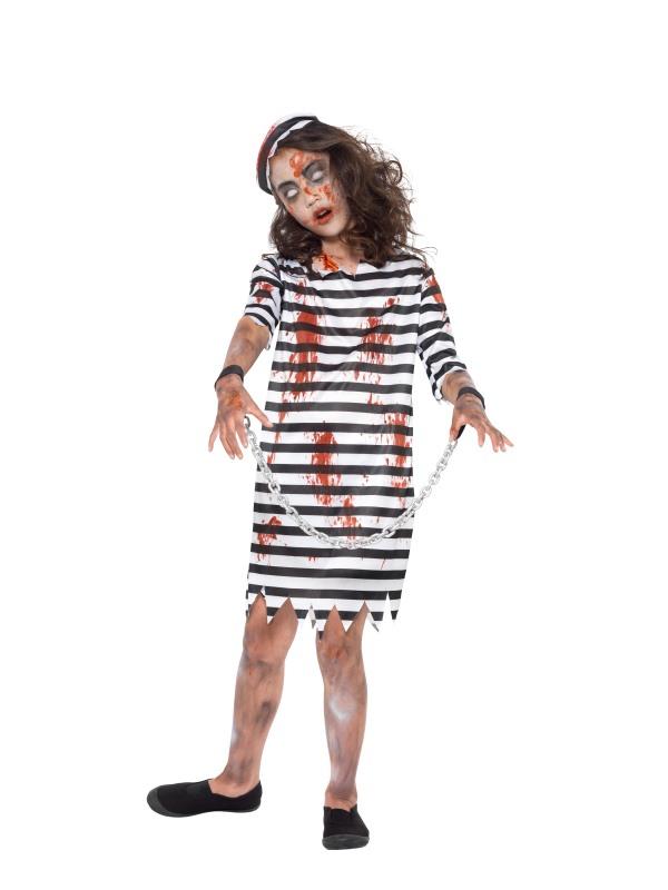 Zombie Convict Girl Kostuum