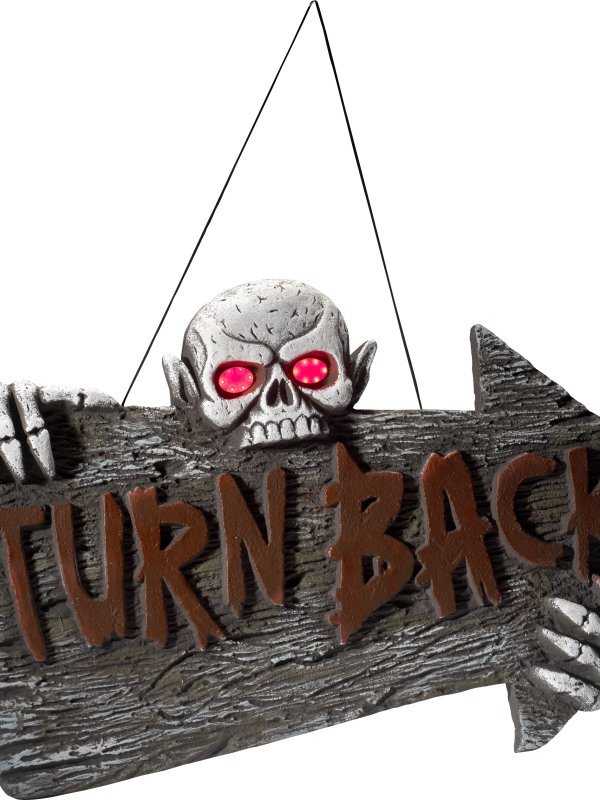 Light Up Turn Back Hanging Sign