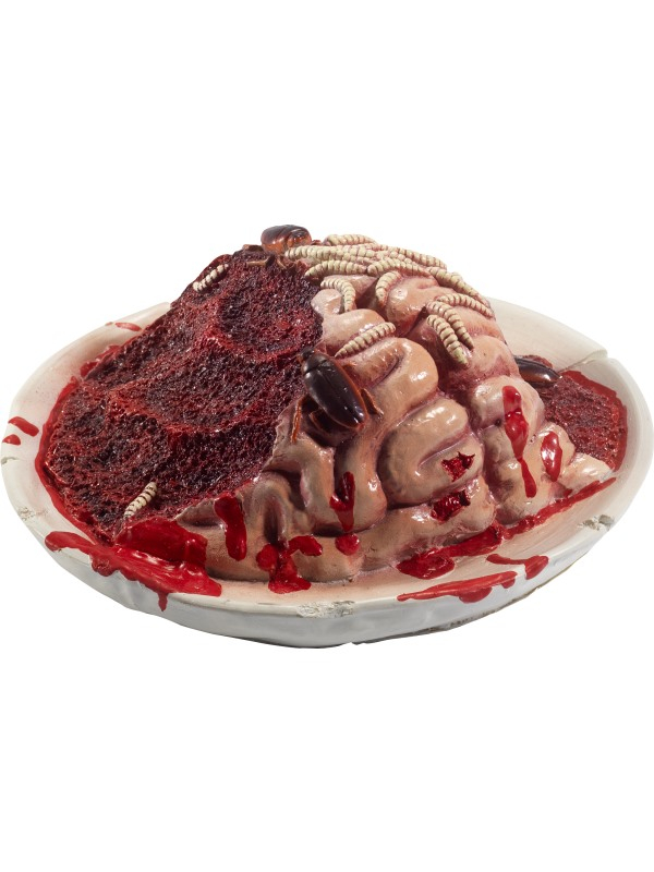 Schaal met Rottende Hersenen, Maden en Kakkerlakken