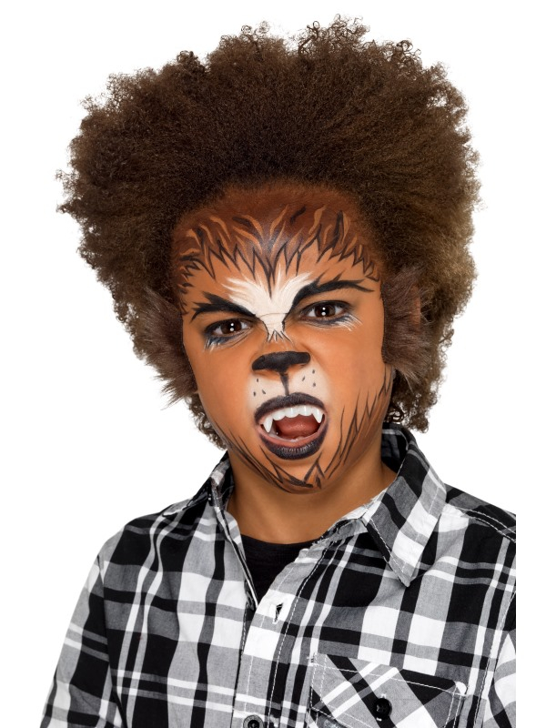 Kids Halloween Weerwolf Make Up Kit, Aqua