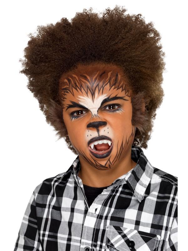 Kids Halloween Weerwolf Make Up Kit, Aqua