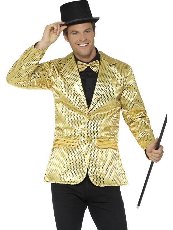 Sequin Jacket Heren Goud