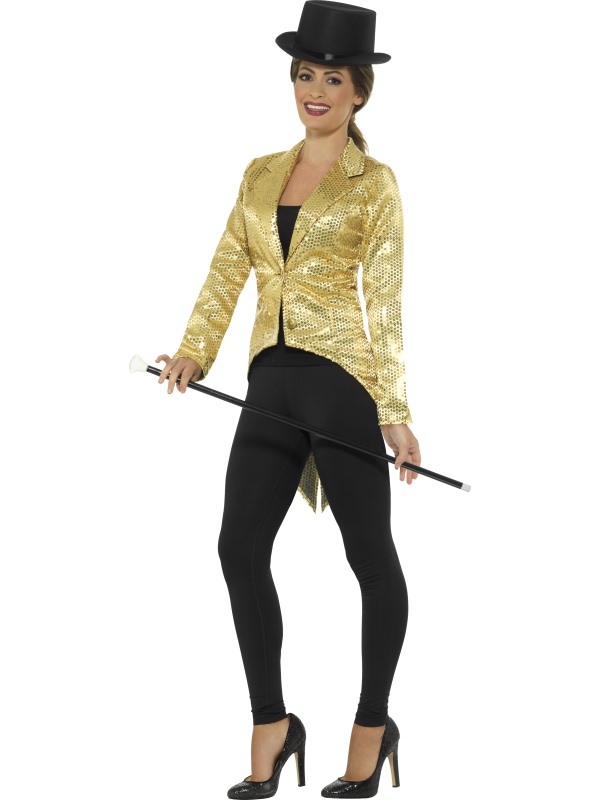 Sequin Tailcoat Jacket Dames Goud