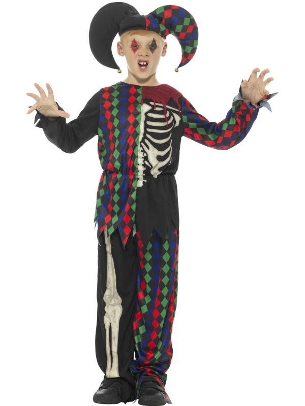 Skeleton Jester Kostuum