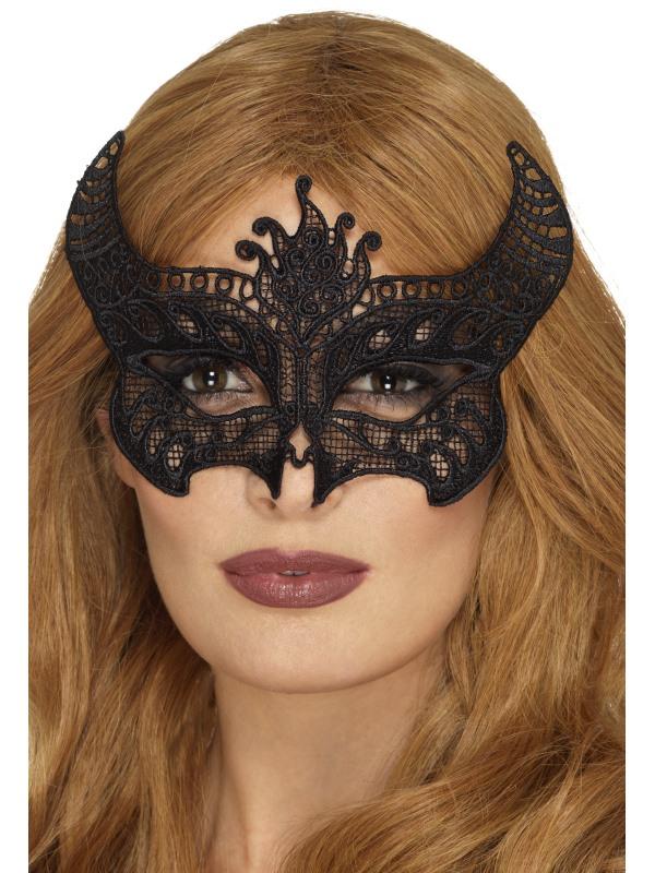 Lace Filigree Devil Masker