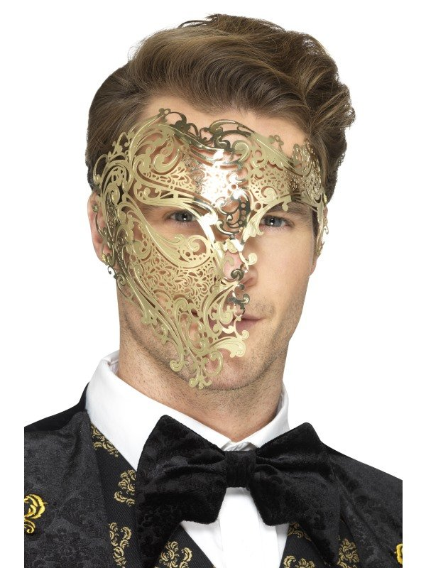 Deluxe Metal Filigree Phantom Masker
