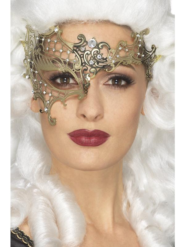 Deluxe Metal Filigree Half Eyemask