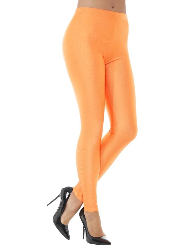 80s Disco Spandex Legging Neon Oranje