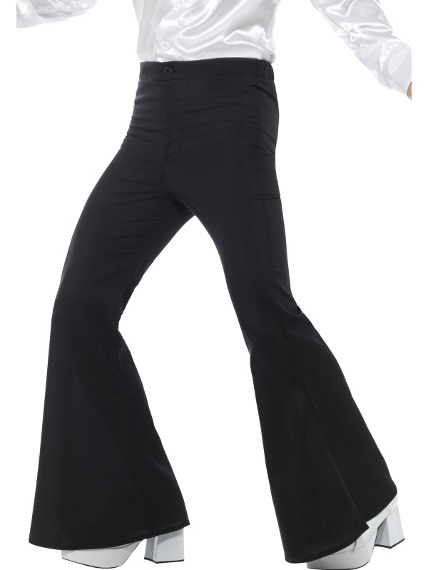 Flared Trousers Heren Zwart