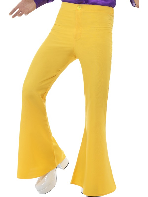 Flared Trousers Heren Geel