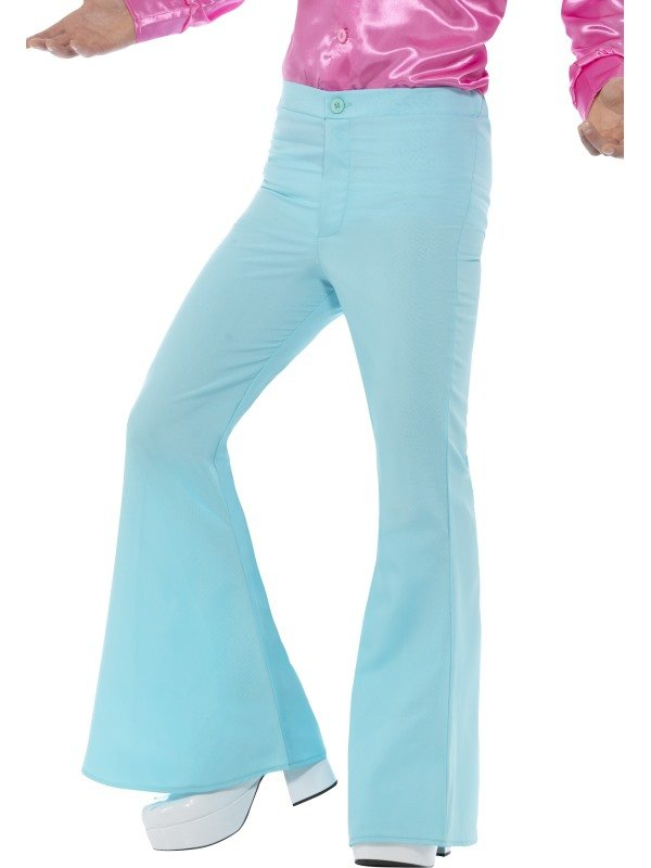 Flared Trousers Heren Licht Blauw