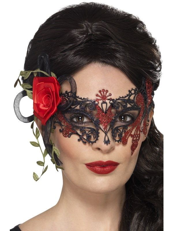 Day of the Dead Metal Filigree Oogmasker