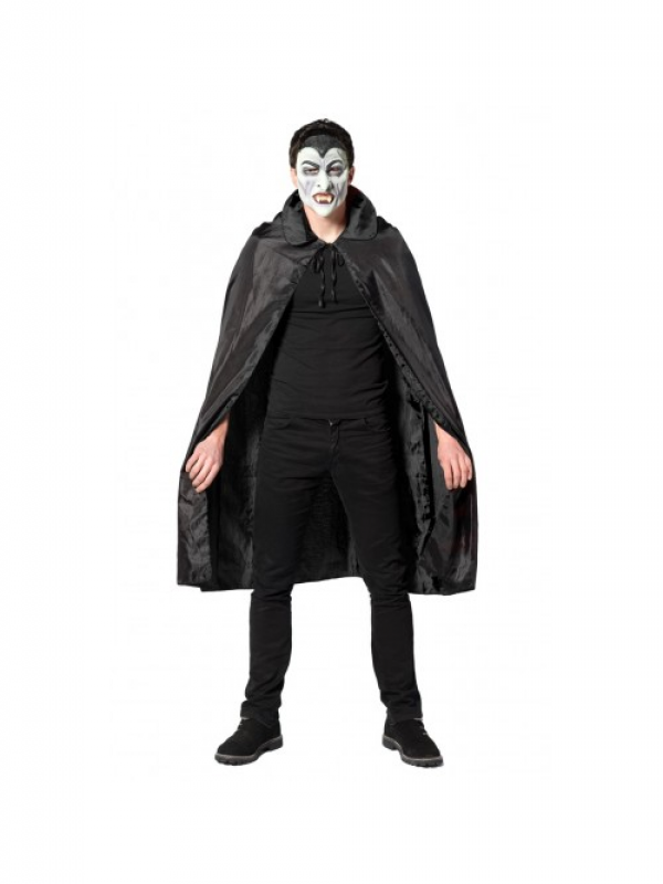 Dracula Hooded Cape Velours Black