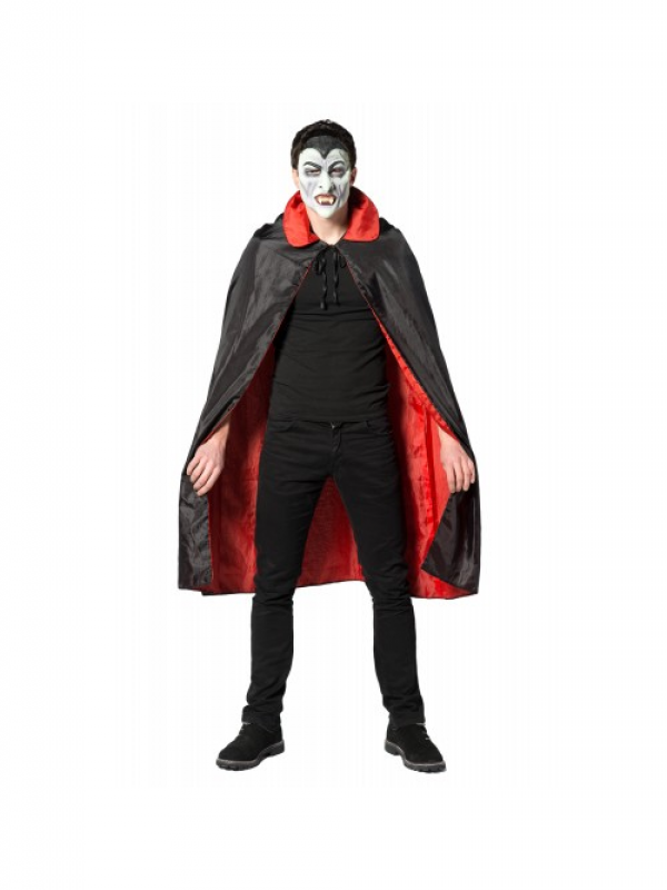 Dracula Cape Zwart/Rood