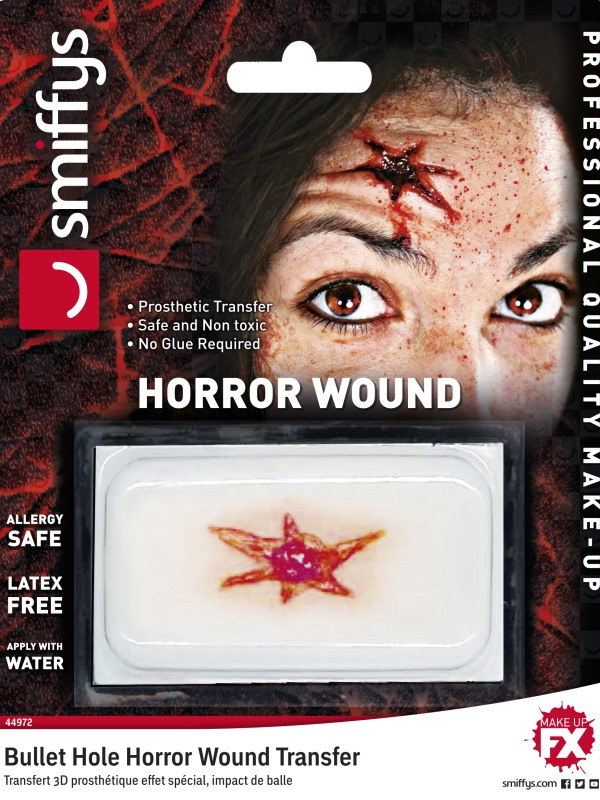 Horror Wound Transfer, Bullet Hole Wound