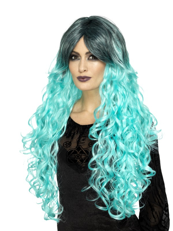 Gothic Glamour Pruik Mint Groen