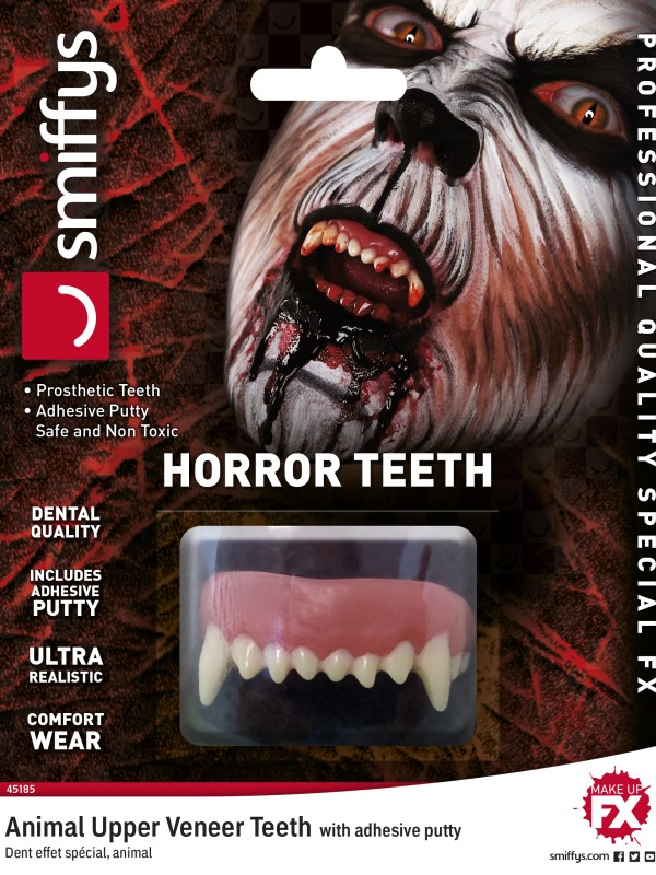 Horror Teeth, Animal, with Upper Veneer Teeth