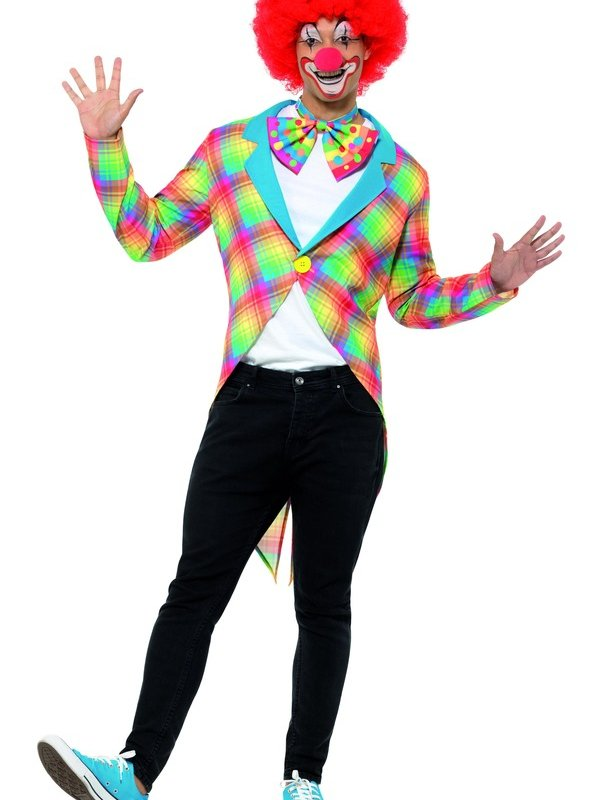 Gekleurde Clown Tailcoat