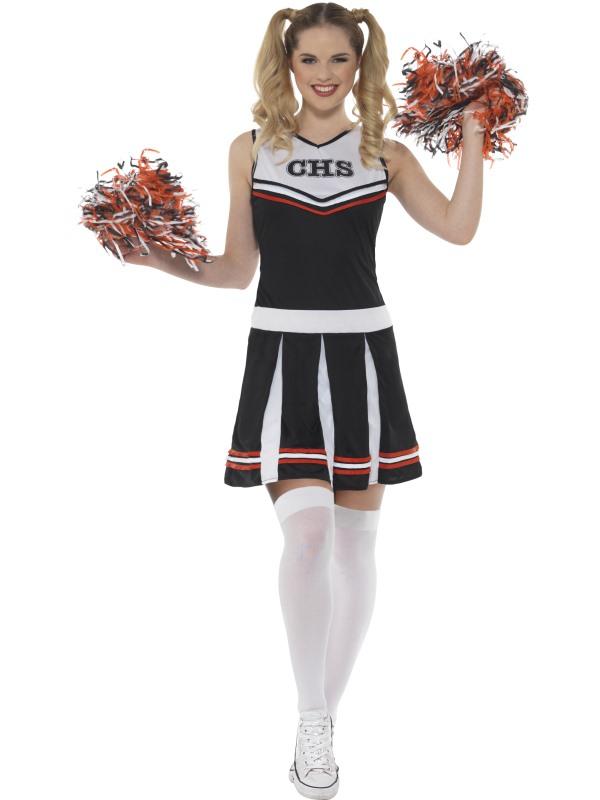 Cheerleader Kostuum Zwart