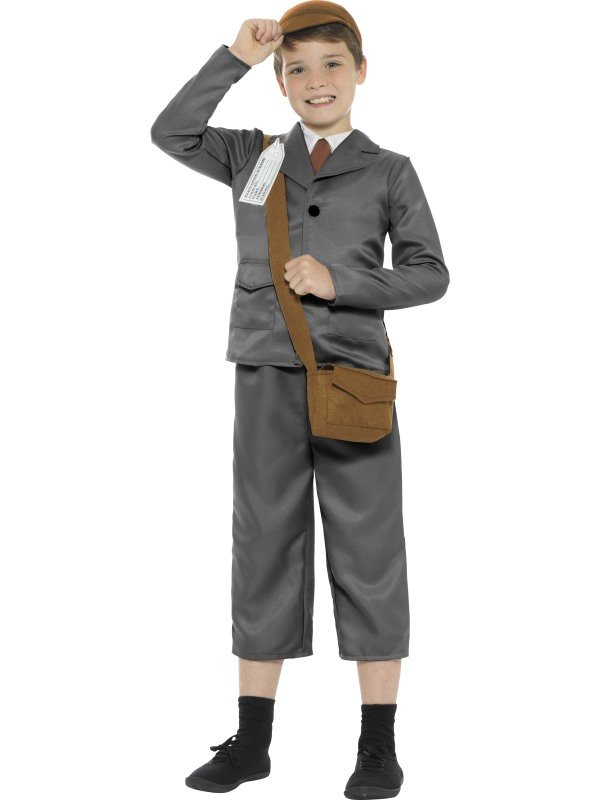 WW2 Evacuee Boy Kostuum