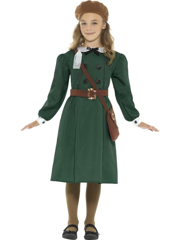 WW2 Evacuee Girl Kostuum