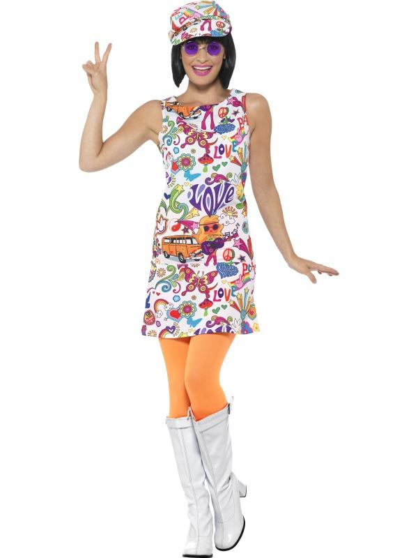 60's Groovy Chick Kostuum