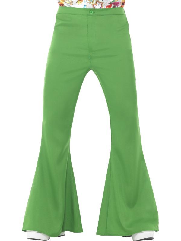 Flared Trousers Groen, Heren