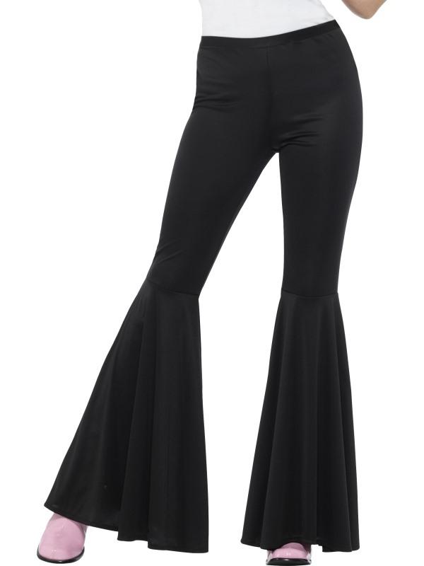 Zwarte Flared Trousers, Ladies