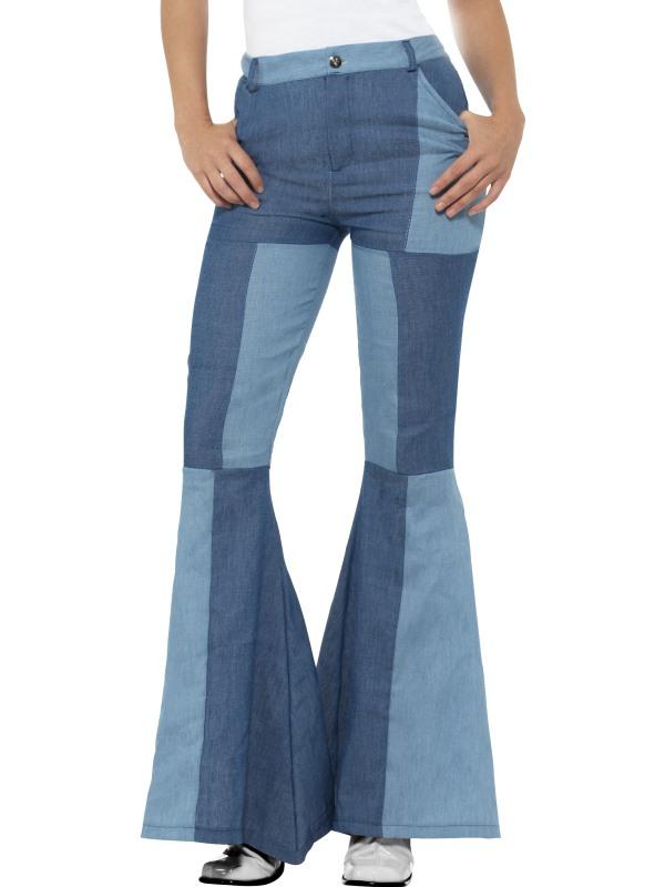 Deluxe Denim Flared Trousers, Ladies