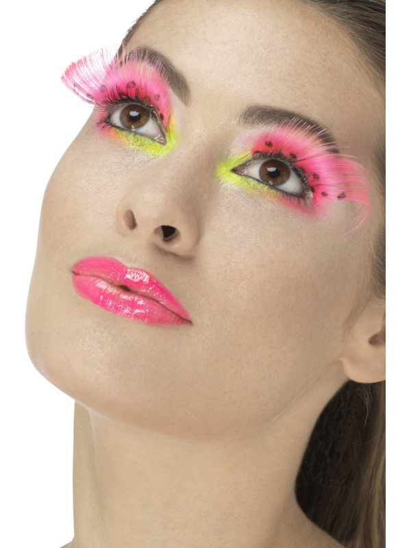 80s Polka Dot Wimpers Neon Roze