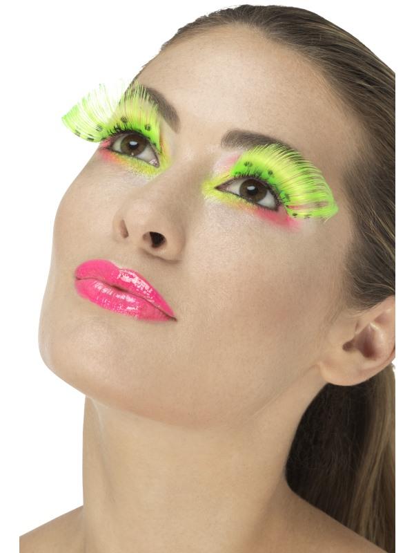 80s Polka Dot Wimpers Neon Groen
