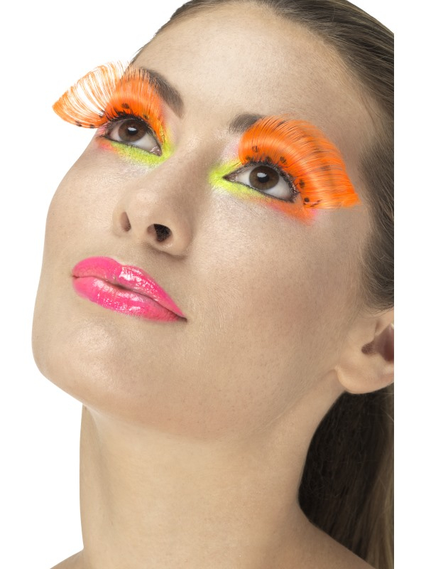 80s Polka Dot Wimpers Neon Oranje