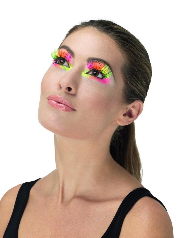 80s Party Wimpers Neon Multi-Gekleurd