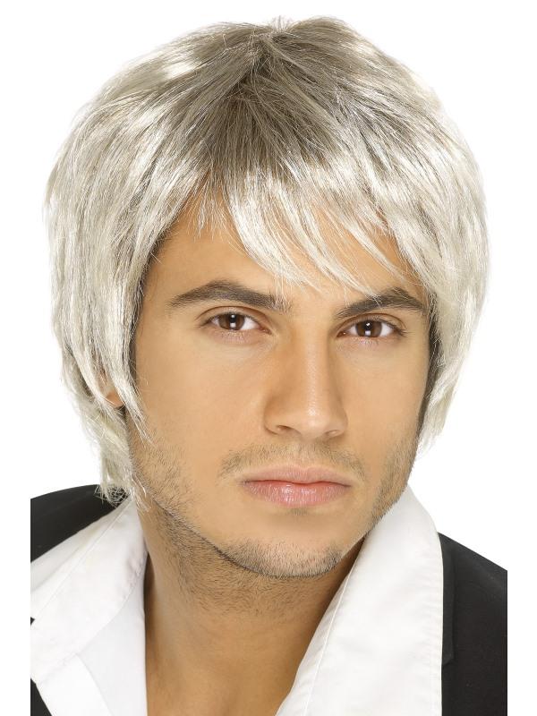 Boy Band Pruik  Blond/Bruin