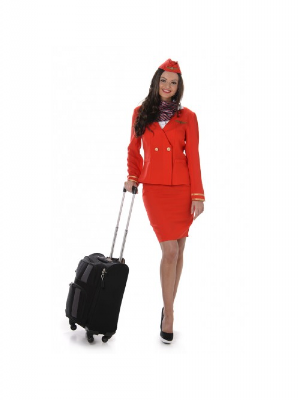 Red Flight Stewardess