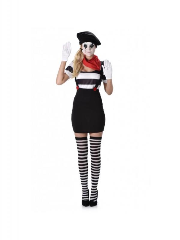 Mime Girl Kostuum
