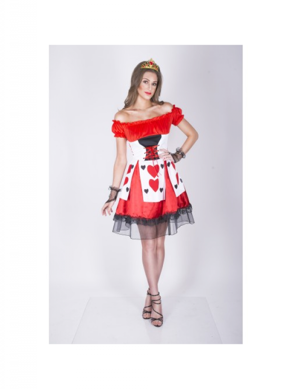Flirty Queen of Hearts Kostuum
