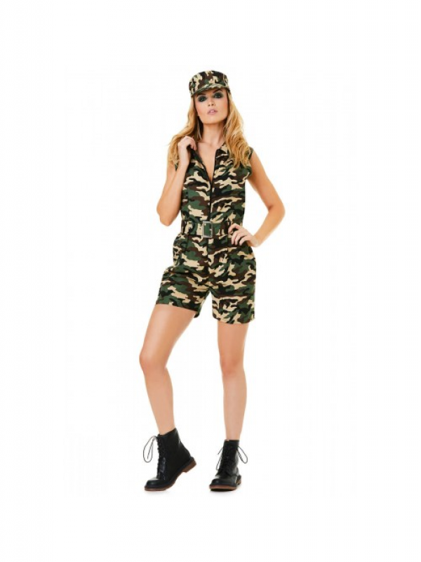 Camo Army Girl Kostuum