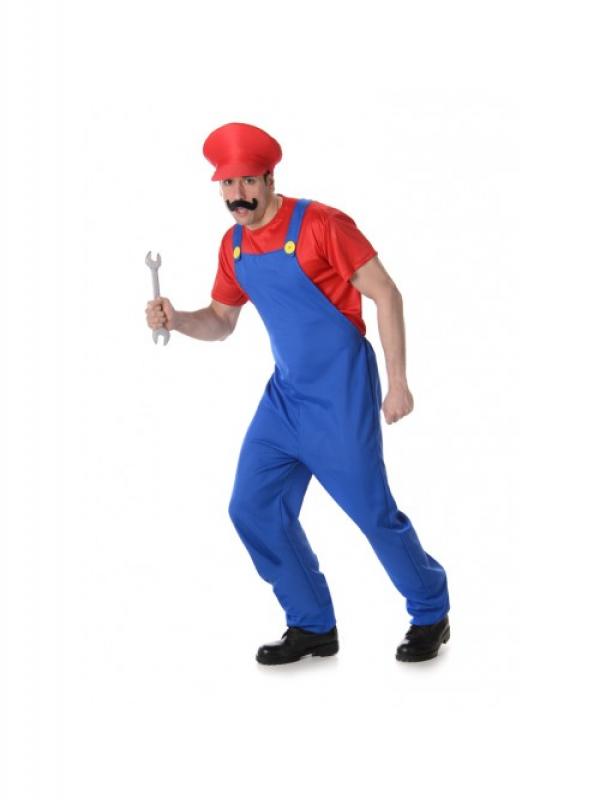 Red Boy Plumber Kostuum