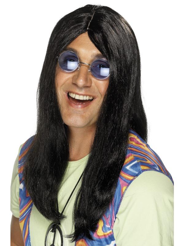 Neil Hippie Pruik Zwart