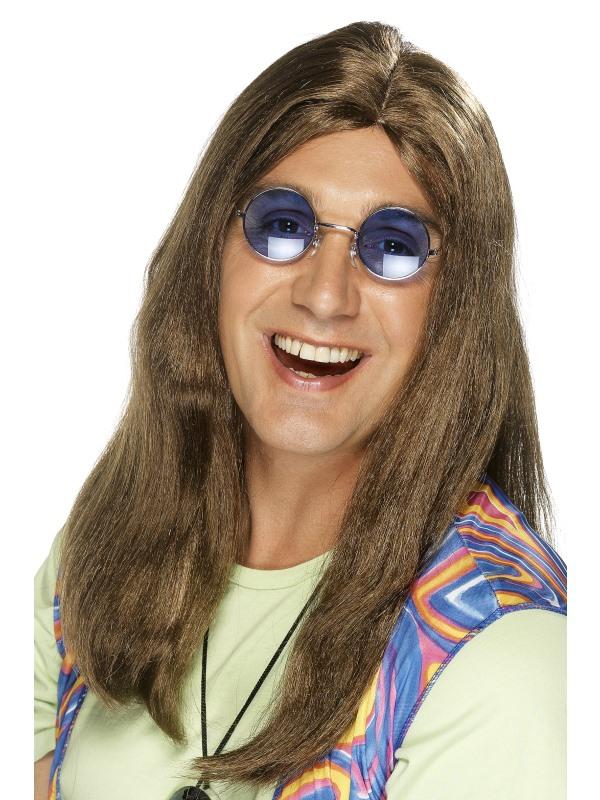Neil Hippie Pruik Bruin